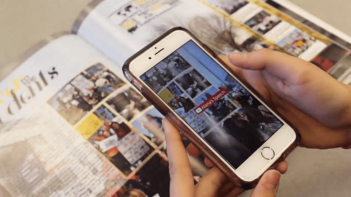 AR in Schools: updating yearbooks for the digital generation