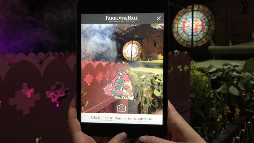 Creating an unforgettable product launch for Farrow & Ball with AR