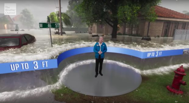 The Weather Channel's AR-enhanced forecast